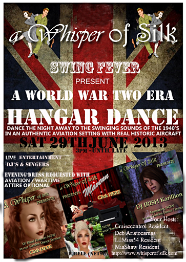 Swing Fever 1940s Hanger Aviation Wartime Party