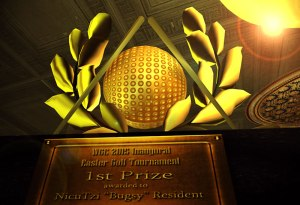 1st Placfe WGC Golf Trophy Presentation